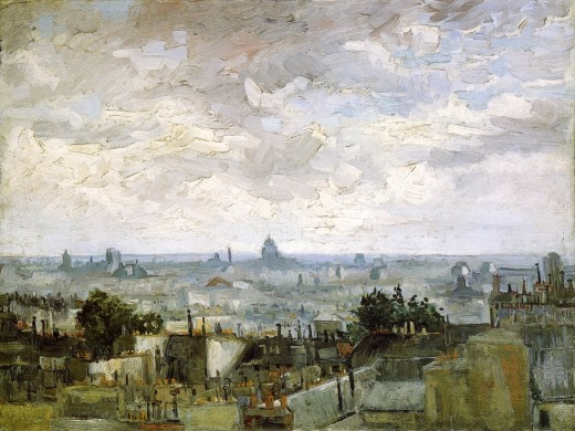 Vincent Van Gogh, Roofs of Paris, 1886