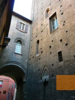 walls of Bologna's medieval ghetto
