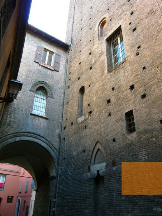 walls of Bologna's medieval ghetto