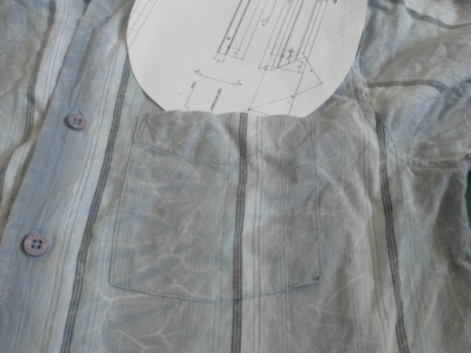 Shirt pocket can be extra compartment on bag lining.