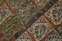 Medieval encaustic tiles at Cleeve Abbey, England