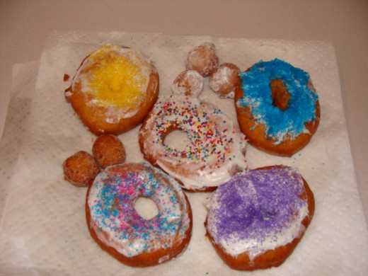 Plate of perfectly homemade donuts!