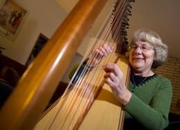 Harpist Julia Smith of Spokane, WA