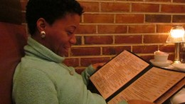 Our daughter Jaleesa, joined us for family night out. She looks through the menu with great anticipation.