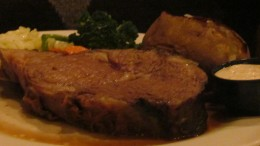 Another specialty of Concordville's Restaurant is the Roast Prime Rib of Beef Au Jus. My husband enjoyed this as he consumed every bite.