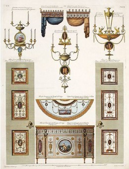 Illustrative outline of decorative details for Derby House