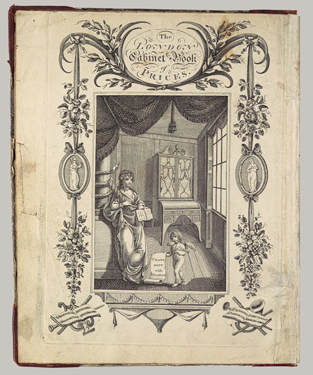 Front cover of the Cabinet-Makers' London Book of Prices, published in 1793 and an example of a type of pattern book or style guide