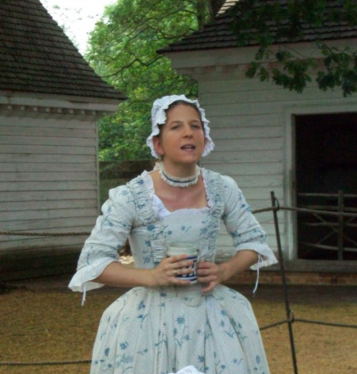 A costumed interpreter at Colonial Williamsburg