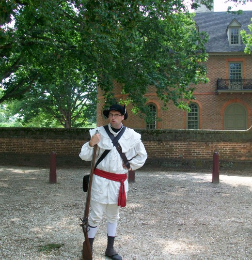 Training with the militia at Colonial Williamsburg