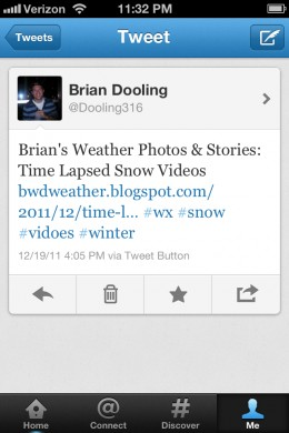 One of my tweets using hashtags for a hubpage article i wrote before christmas