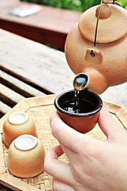 Tea, which cleanses the body of toxins, is central to the Chinese diet.