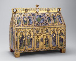 A reliquary of the Crucifixion and Christ in Majesty, ca. 1180-90, Limoges, France