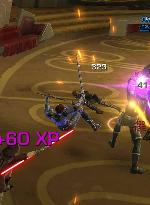 SWTOR Defeating the Mysterious Sith Using the Primal Follower Double-Bladed Lightsaber as a Dark Jedi Shadow