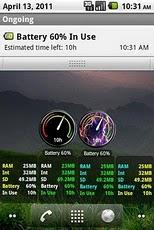Memory Status Widget, Battery Status Widget for Android Phone