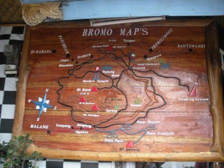Map of Bromo (at Yoshi Hotel)