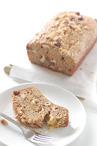 Although this is a photo of banana bread, zucchini bread looks quite similar