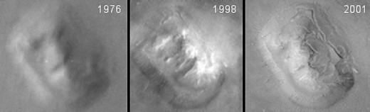 "Images of ""The Face"" over time"