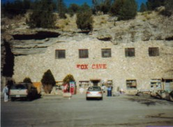 Fox Cave entrance in New Mexico. There really isn't a cave behind that elaborate rock wall, it's more of just an alcove.