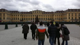 This was when we arrived to the Schönbrunn Palace. With its 1441 rooms it was huge.