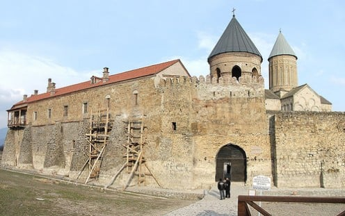 Alaverdi Cathedral in Georgia. This is a shot of the gate built in the 11th Century.