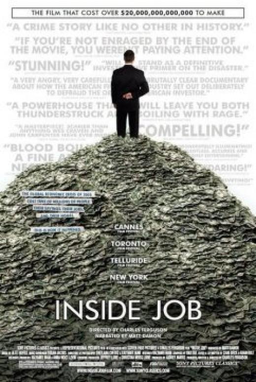 Movie poster for INSIDE JOB