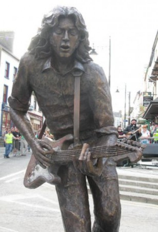 The Rory Gallagher statue in Ballyshannon Co. Donegal