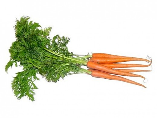 Carrot for healthy skin. Rich in vitamin A and B