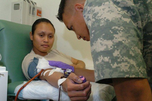 Platelet Donation. Source: U.S. Air Force photo by Senior Airman Dilia DeGrego.  CC BY 2.0, wikimedia commons
