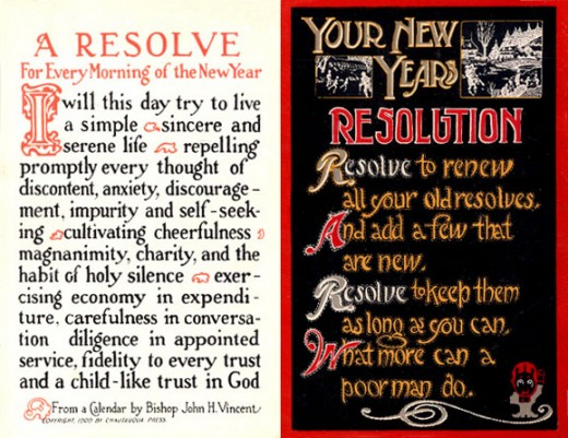 Resolution Card from the year 1915