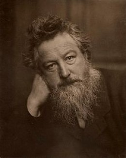 Portrait of William Morris in his later years in 1887