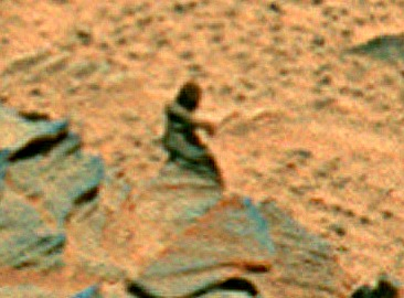 A human-shaped rock on Mars