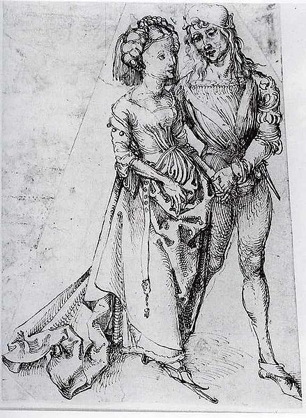 """The Lovers"" by Albrecht Durer, unknown date"