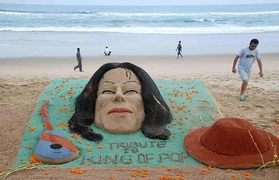 In remembrance of international pop sensation Micheal Jackson. Sudarshan Patnaik is a big fan of Micheal Jackson.