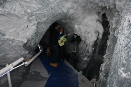 Glacier Palace Ice Tunnel, Ice Crystals, Matterhorn, Switzerland