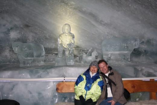 Glacier Palace Ice Tunnel and Sculpture, Matterhorn, Switzerland