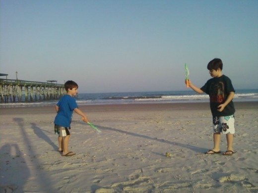 One of our winter vacations on Amelia Island, Florida.