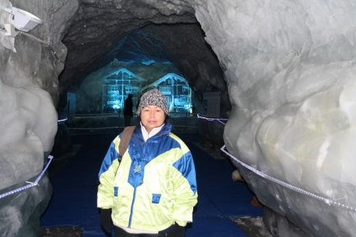 Glacier Palace Ice Tunnel, Ice Sculpture, Matterhorn, Switzerland