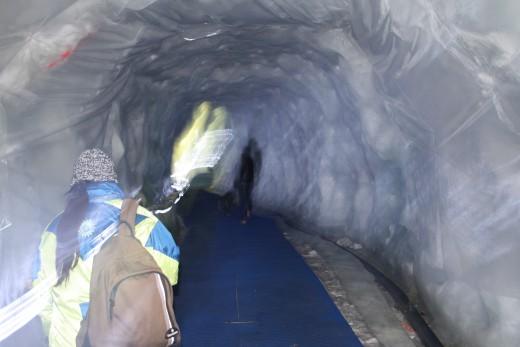 Glacier Palace Ice Tunnel, Matterhorn, Switzerland