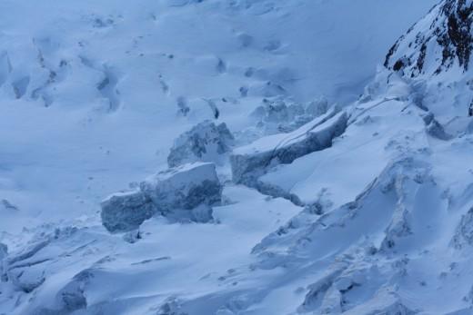 Crevasses, Glacier Alpine, Matterhorn, Zwitzerland