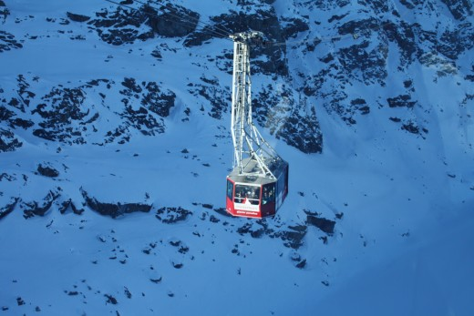 Going down to Trockener Steg, Alpine Panorama, Matterhorn Cable Car, Switzerland