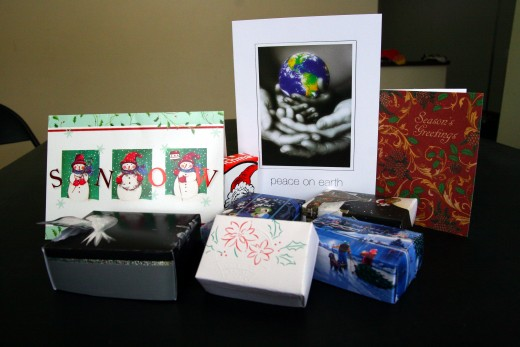 Don't throw away old Christmas cards - re-purpose them into gift boxes!