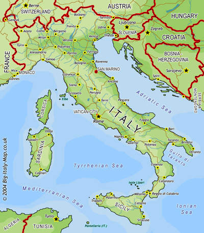 Italys Contribution To Place Names on the US Map Northern Italy