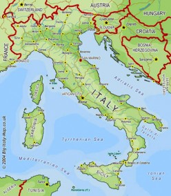 Italy's Contribution To Place Names on the US Map - Northern Italy: Milan
