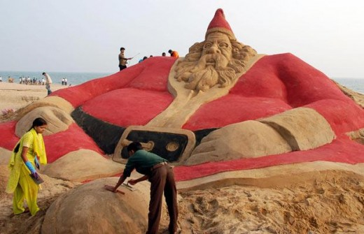 He also holds a Guinness World Record for the tallest sand sculpture of Santa Clause (25-foot).