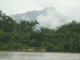 River Kwae yai (Kwai) and surrounding countryside, Kanchanaburi province, Thailand
