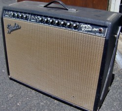 A 1967 Fender Blackface Twin Reverb. This is the ultimate CLEAN tone amp with power in spades!