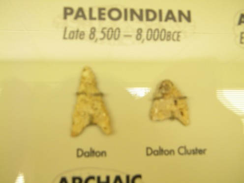 Dalton points used during the Paleolithic period were left here long before the mound builders arrived.