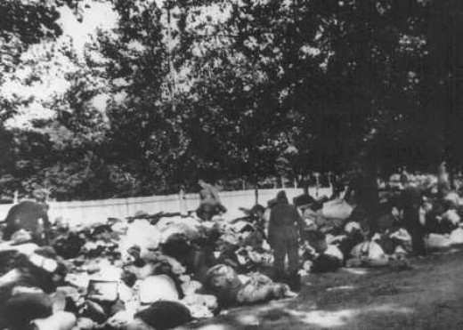 Einsatzgruppen victims at Babi Yar in Kiev, Soviet Union.
