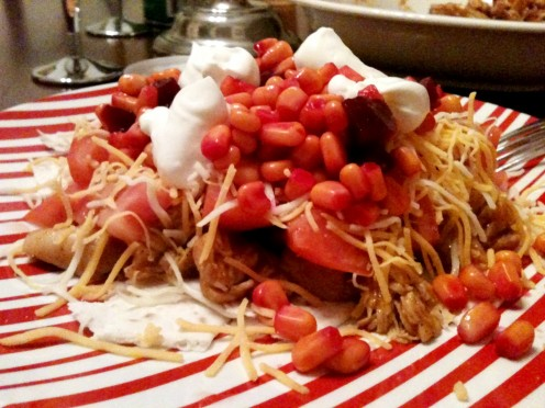 This recipe works great for a taco salad.