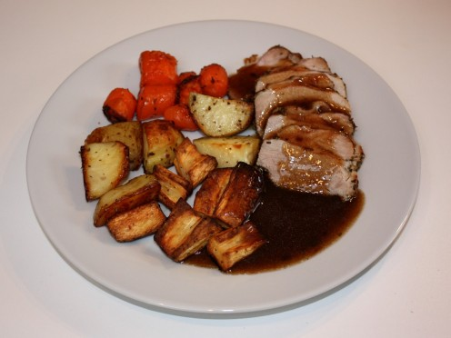 Pork Loin Dinner with Gravy
